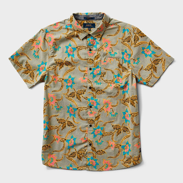 product: Roark Batavia Batik Button Up Shirt Military