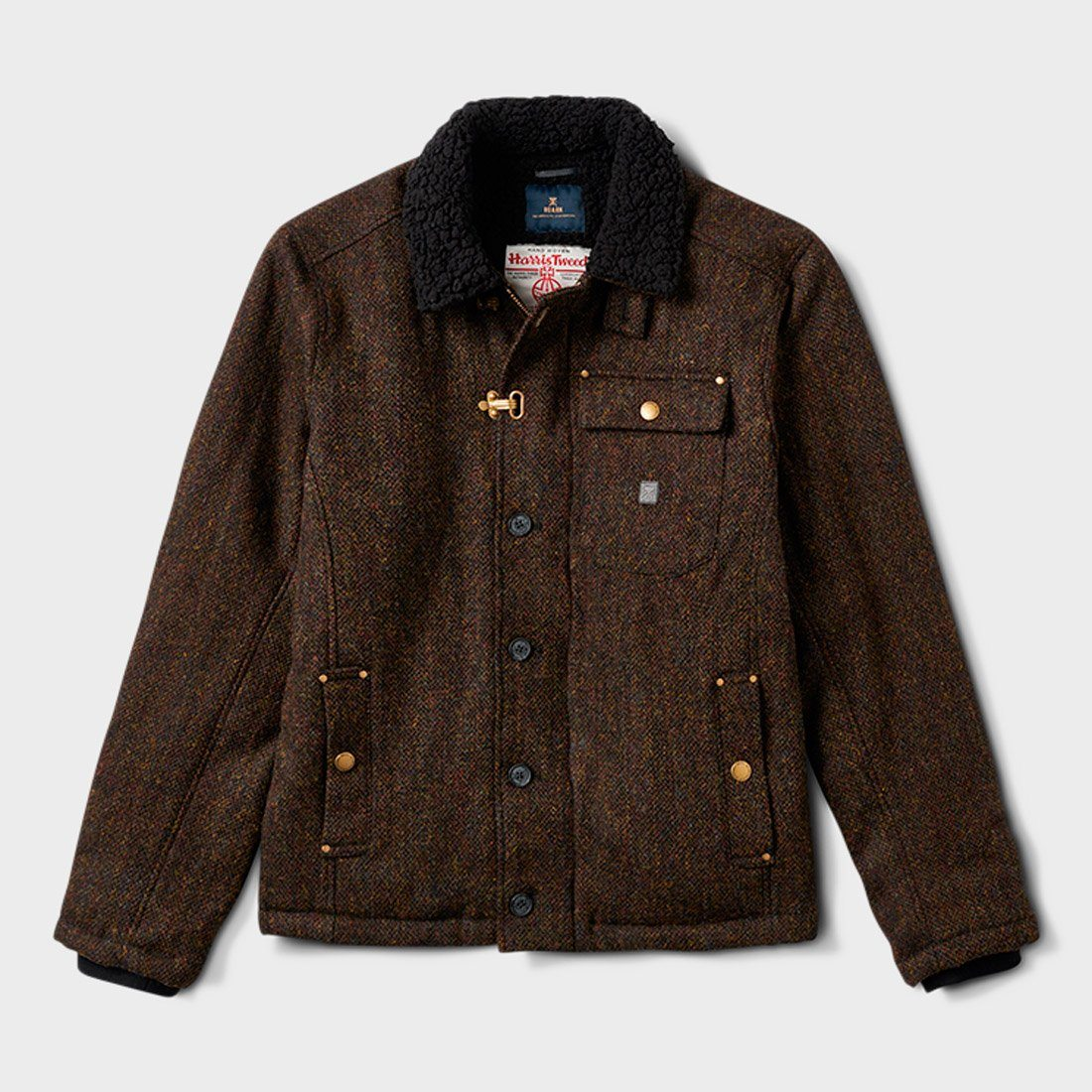 Roark Axeman Harris Tweed Jacket Brown