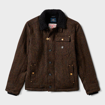 product: Roark Axeman Harris Tweed Jacket Brown