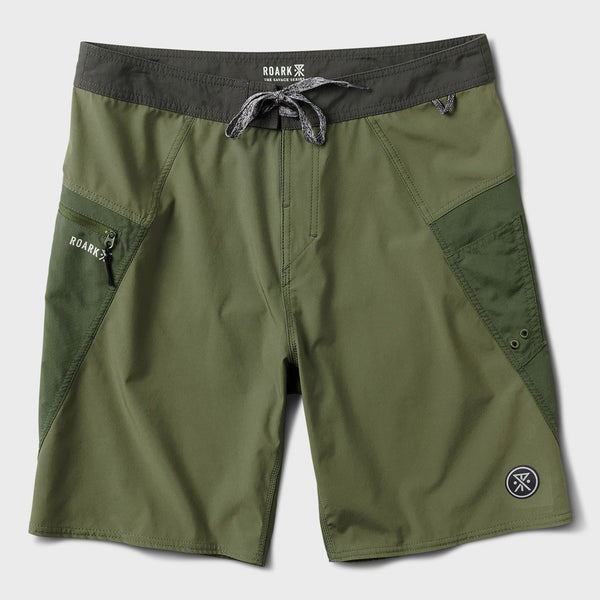 product: Roark Savage Boatman Boardshorts Military