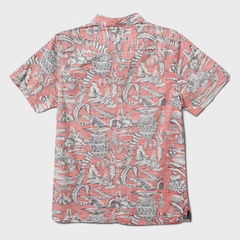 product: Roark Misty Morning Woven Coral