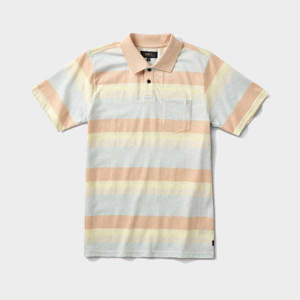 product: Roark Sunda Stripe Polo Light Blue
