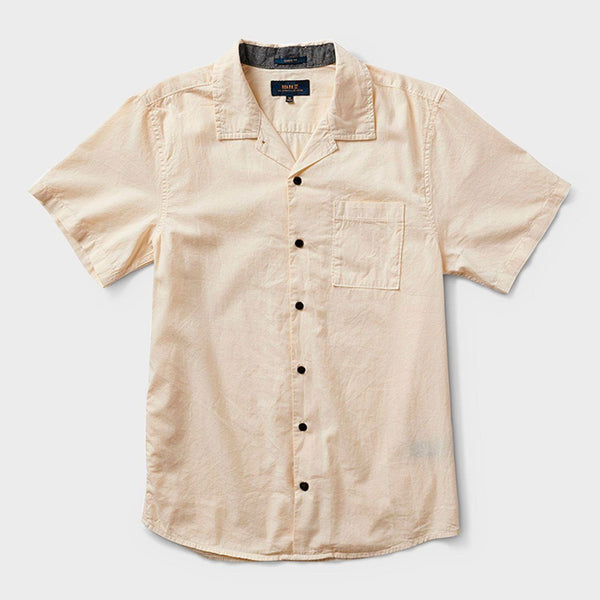 product: Roark Well Worn Organic Woven Shirt Washed White