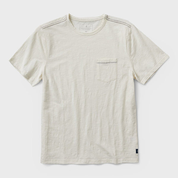 product: Roark Well Worn S/S Knit Midweight Off White