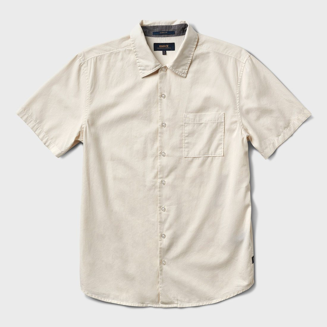Roark Well Worn Button-Up Shirt Off White