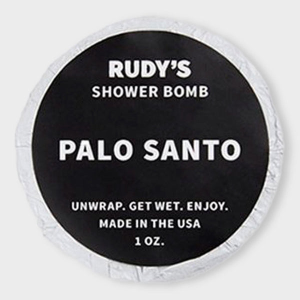 product: Rudy's Palo Santo Shower Bomb