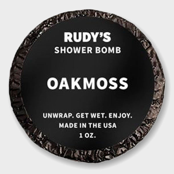 product: Rudy's Oakmoss Shower Bomb