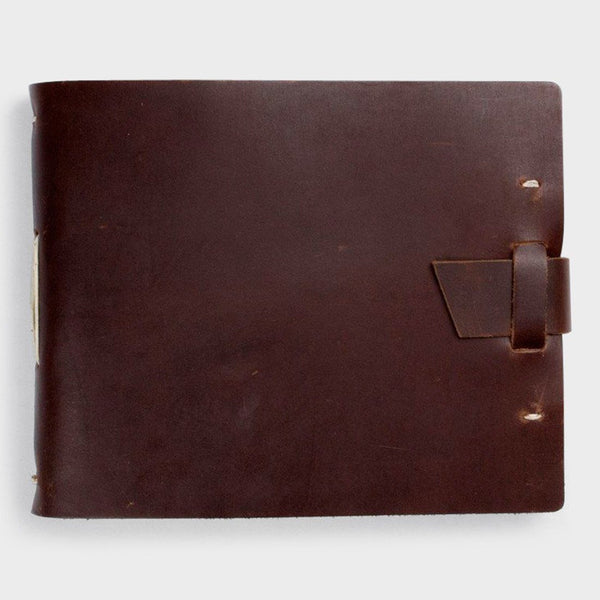 product: Rustico Field Photo Album W/ Buckle Dark Brown