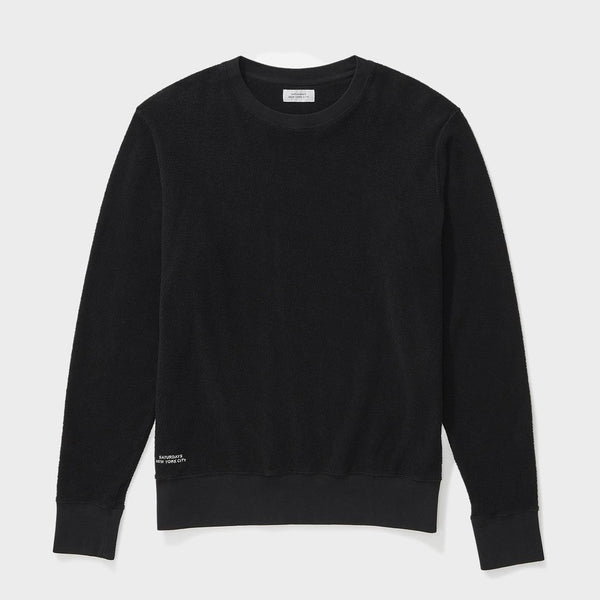 product: Saturday's NYC Bowery Terry Sweatshirt Black
