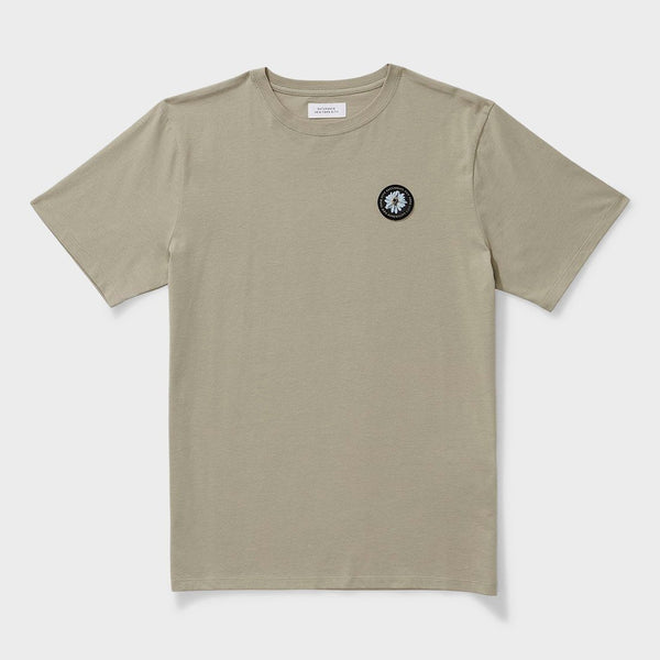 product: Saturday's NYC Daisy Patch T-Shirt Stone Green