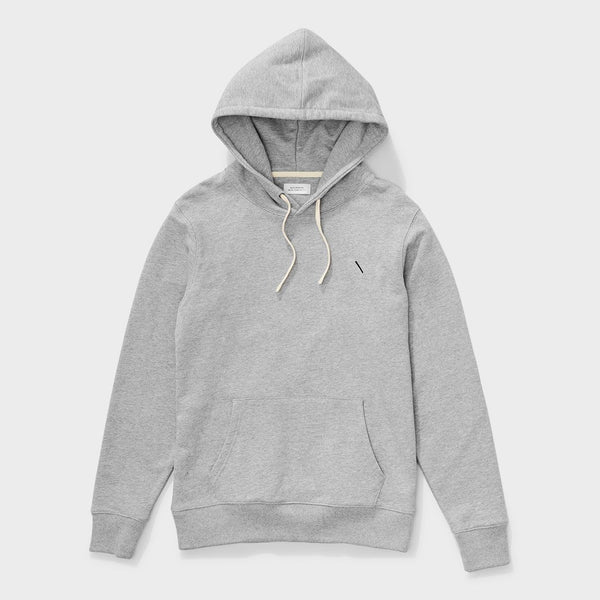 product: Saturday's NYC Ditch Chest Slash Embroidered Hoodie Ash Heather