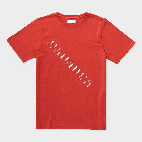 product: Saturday's NYC Dotted Slash S/S Tee Brick
