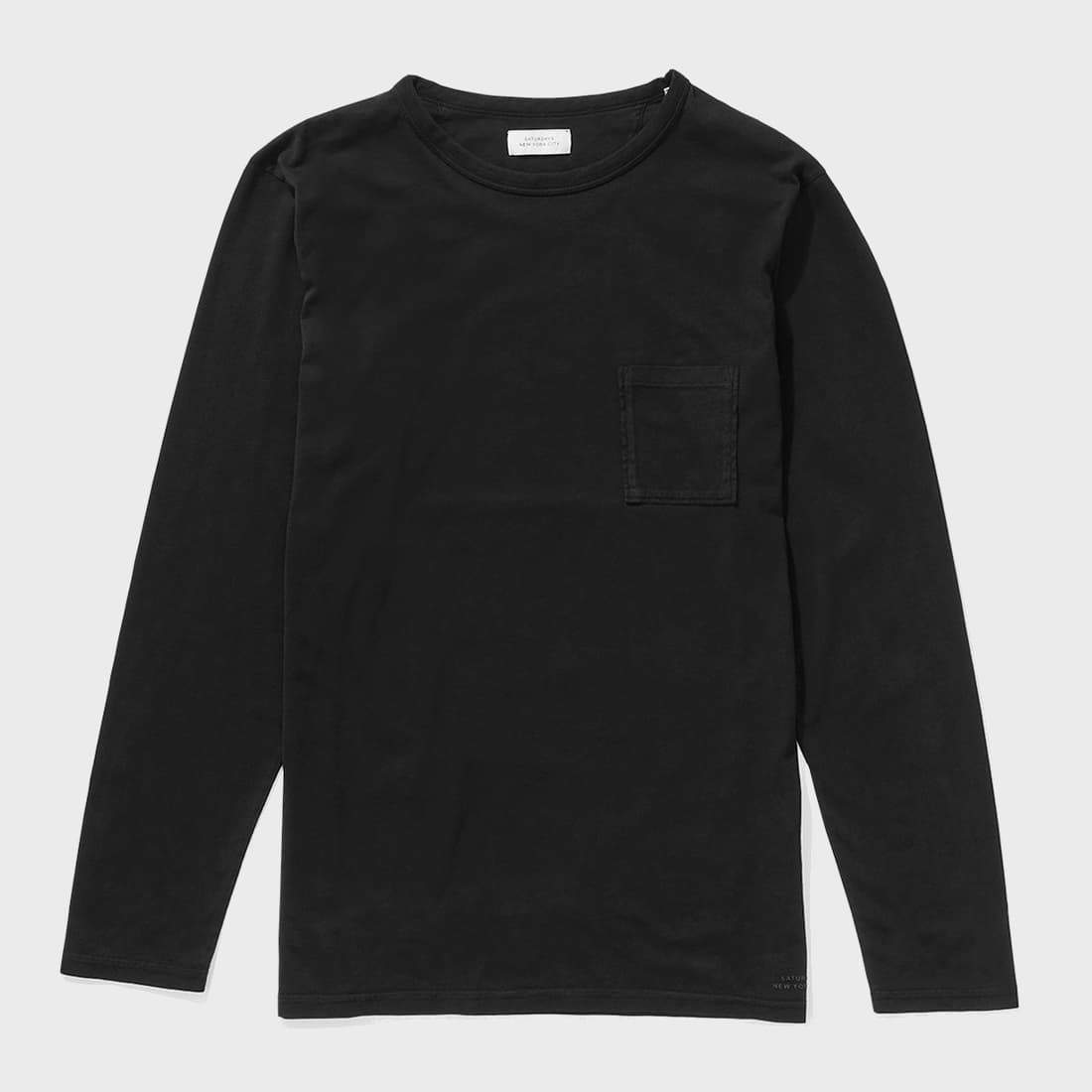 Saturday's NYC James  L/S Pima T-shirt Black