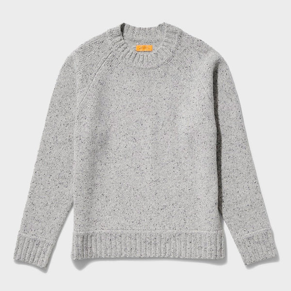 product: Saturday's NYC Miguel Speckles Sweater Ash Heather