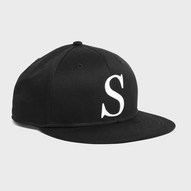 Saturday's NYC Rich Italic Snap Hat Black