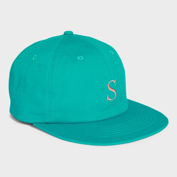 product: Saturday's NYC Rich S Cotton Twill Hat Ocean green
