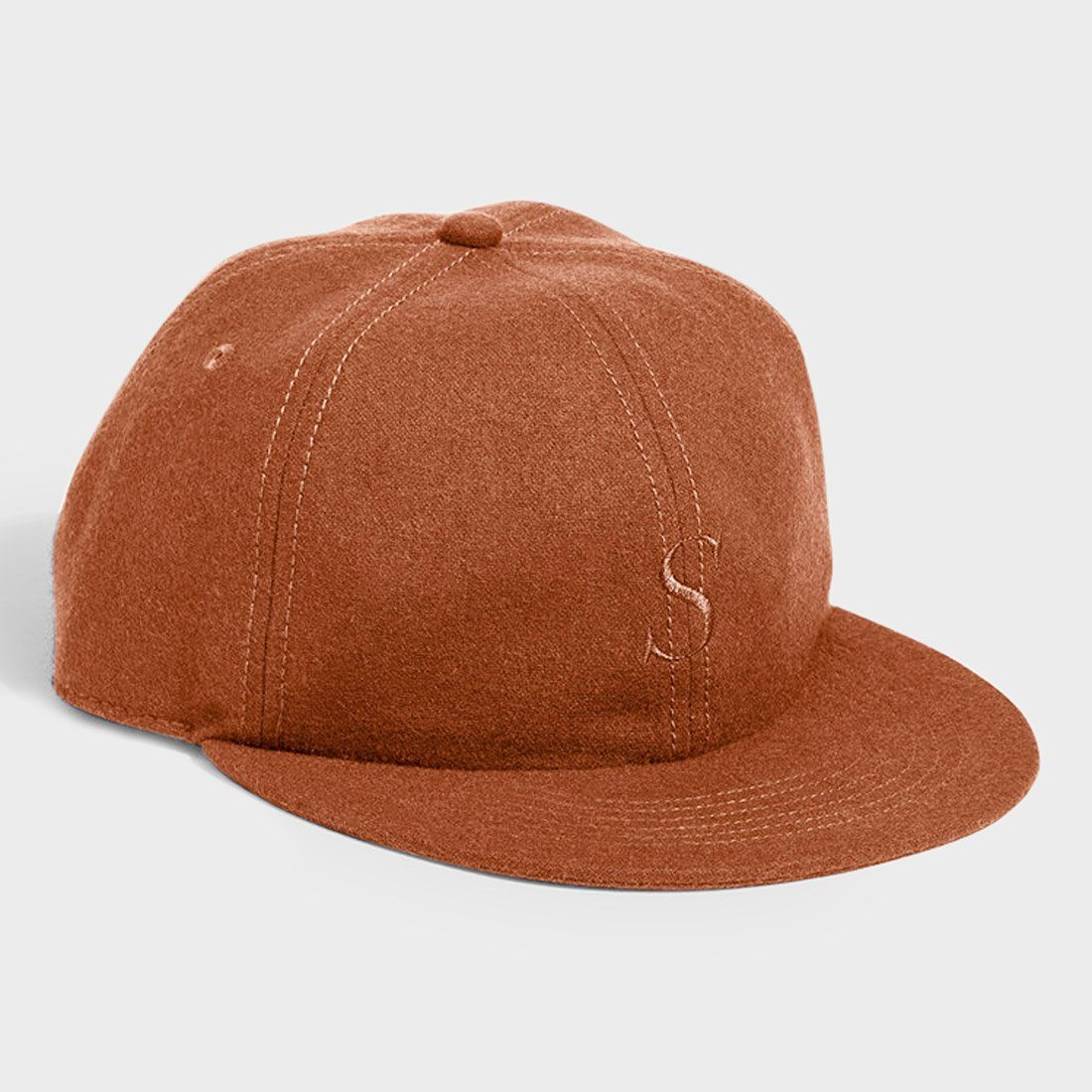 Saturday's NYC Rich S Wool Hat Burnt Khaki