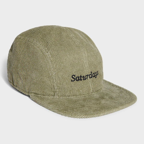 product: Saturday's NYC Russel Miller Cord Hat Military Green