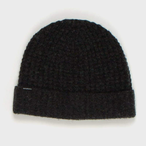 product: Saturday's NYC Waffle Knit Beanie black
