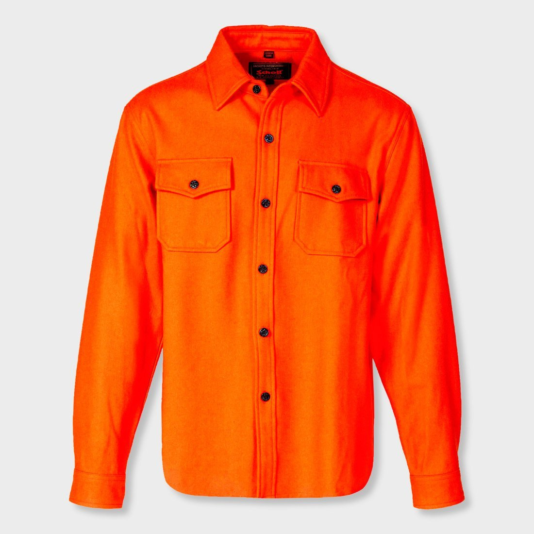 Schott CPO Wool Shirt Orange