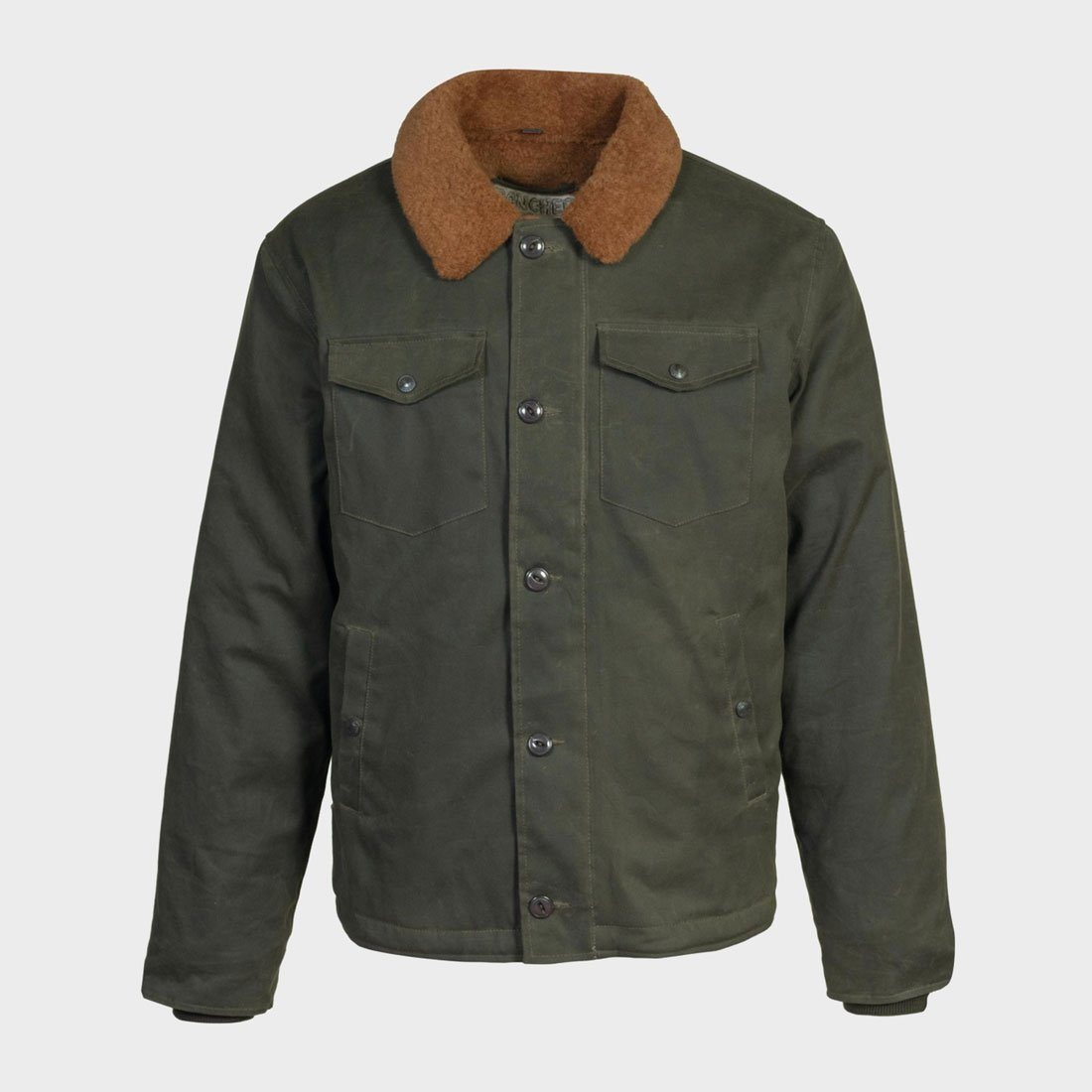 Schott Waxed Cotton Deck Jacket Olive