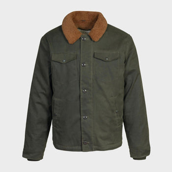product: Schott Waxed Cotton Deck Jacket Olive
