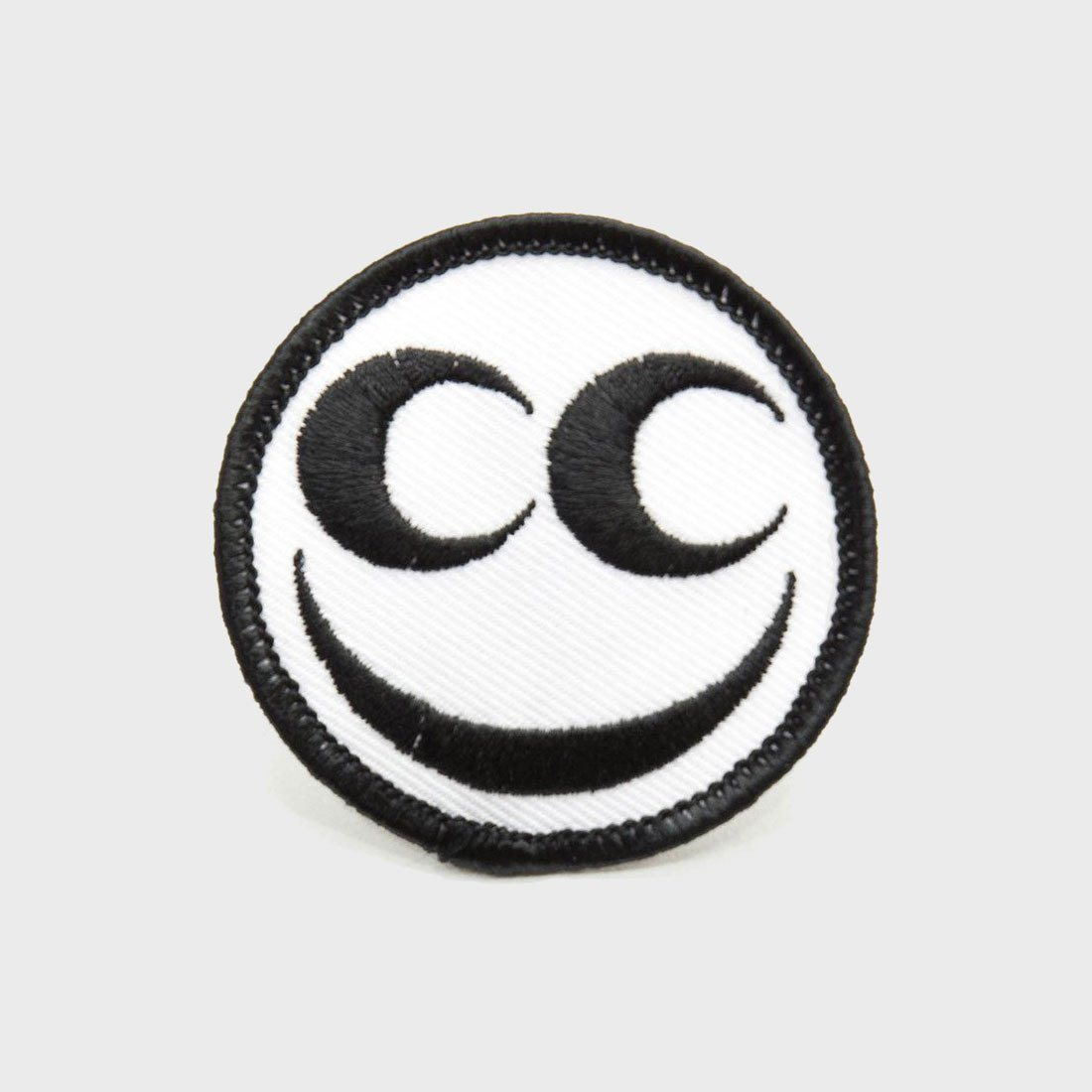 "See See Motorcycles ""Official"" See See Round Patch Black/White"