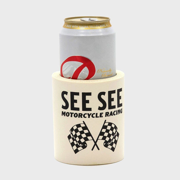 product: See See Motorcycles See See Race Koozie Cream