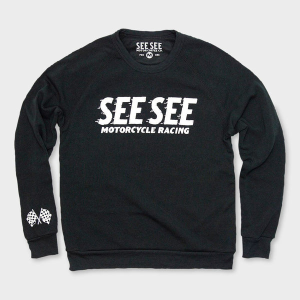 product: See See Motorcycles Racing Crewneck Sweater Black