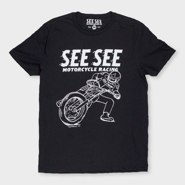 product: See See Motorcycles Skip Aksland Tribute T-Shirt Black