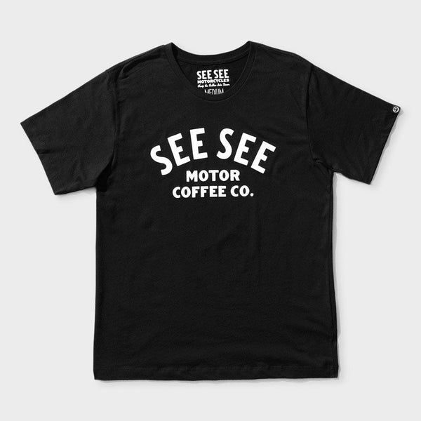product: See See Motorcycles Classic Motor Coffee T-Shirt Black