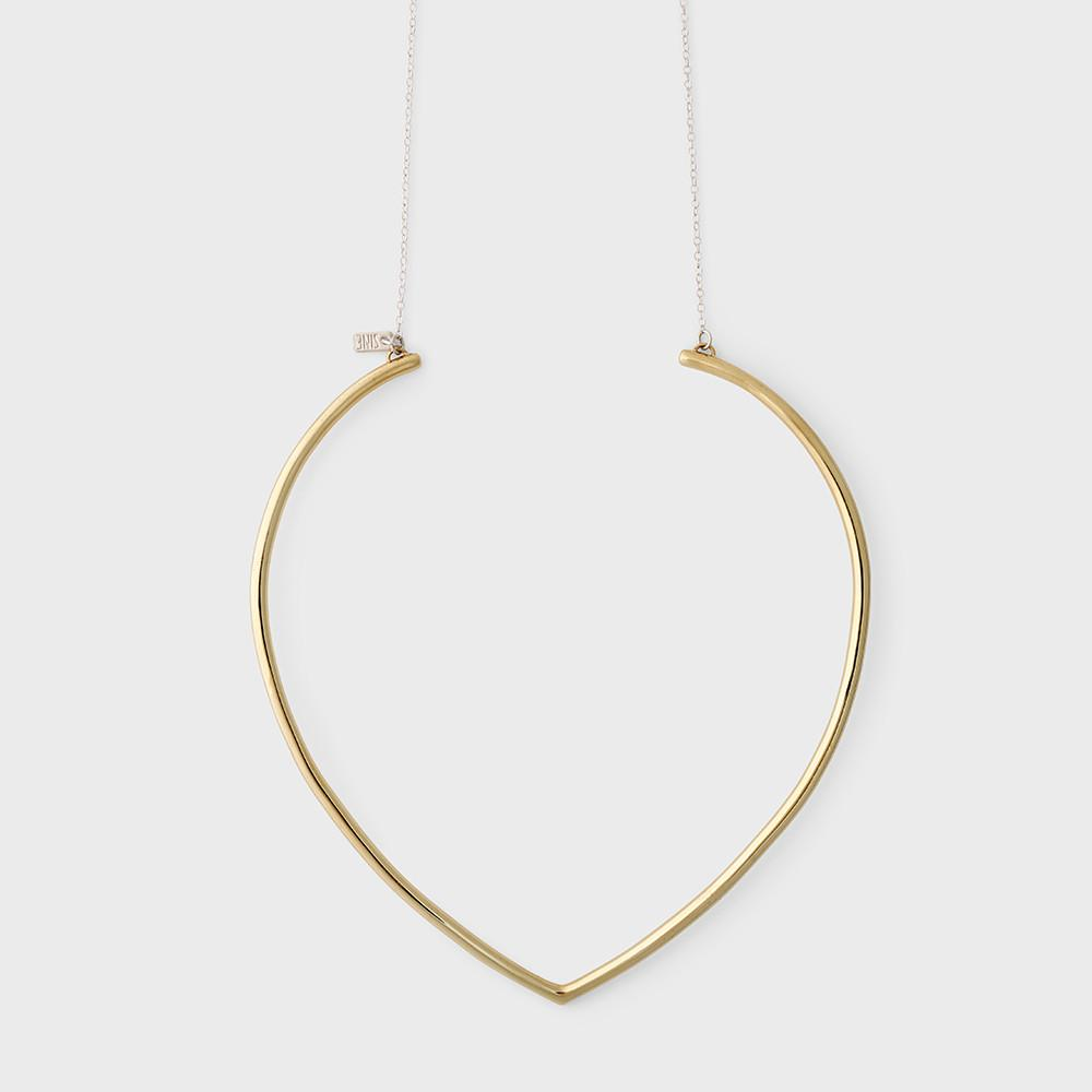 Sine Ascend Collar Necklace Brass