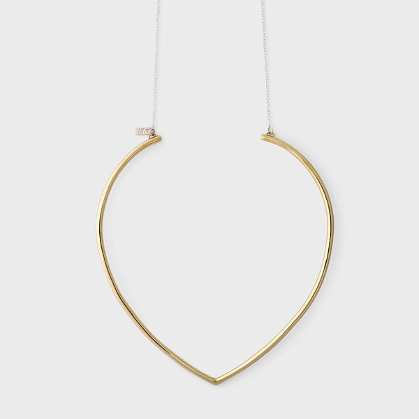 product: Sine Ascend Collar Necklace Brass