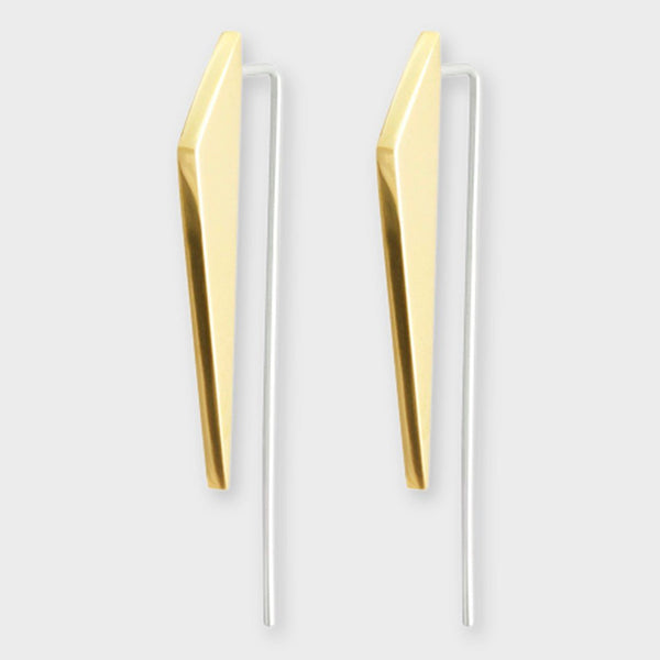 product: Sine Ascend Earrings Brass