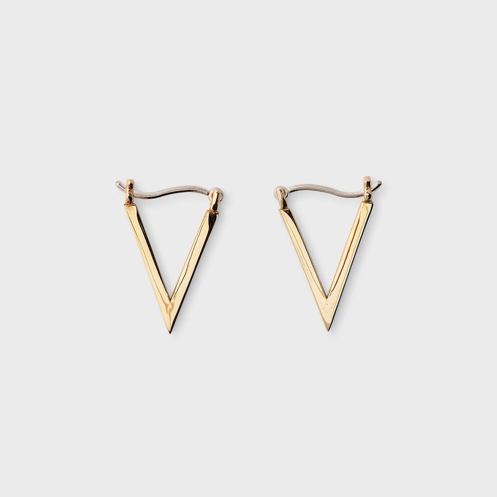 Sine Ascend Triangle Earrings Brass
