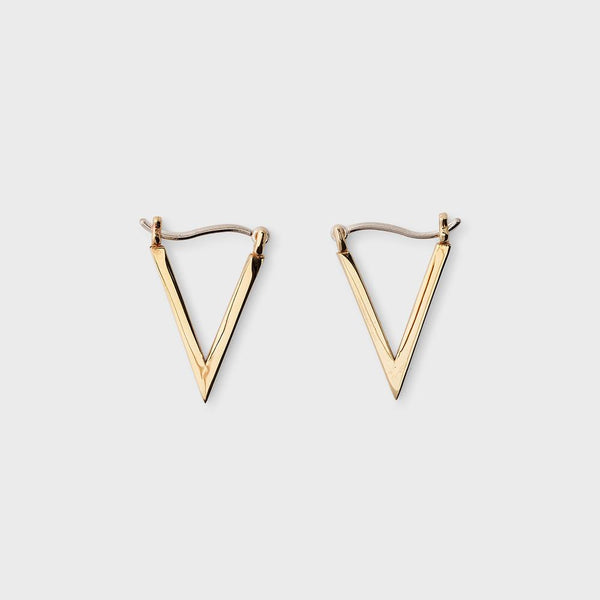 product: Sine Ascend Triangle Earings Brass
