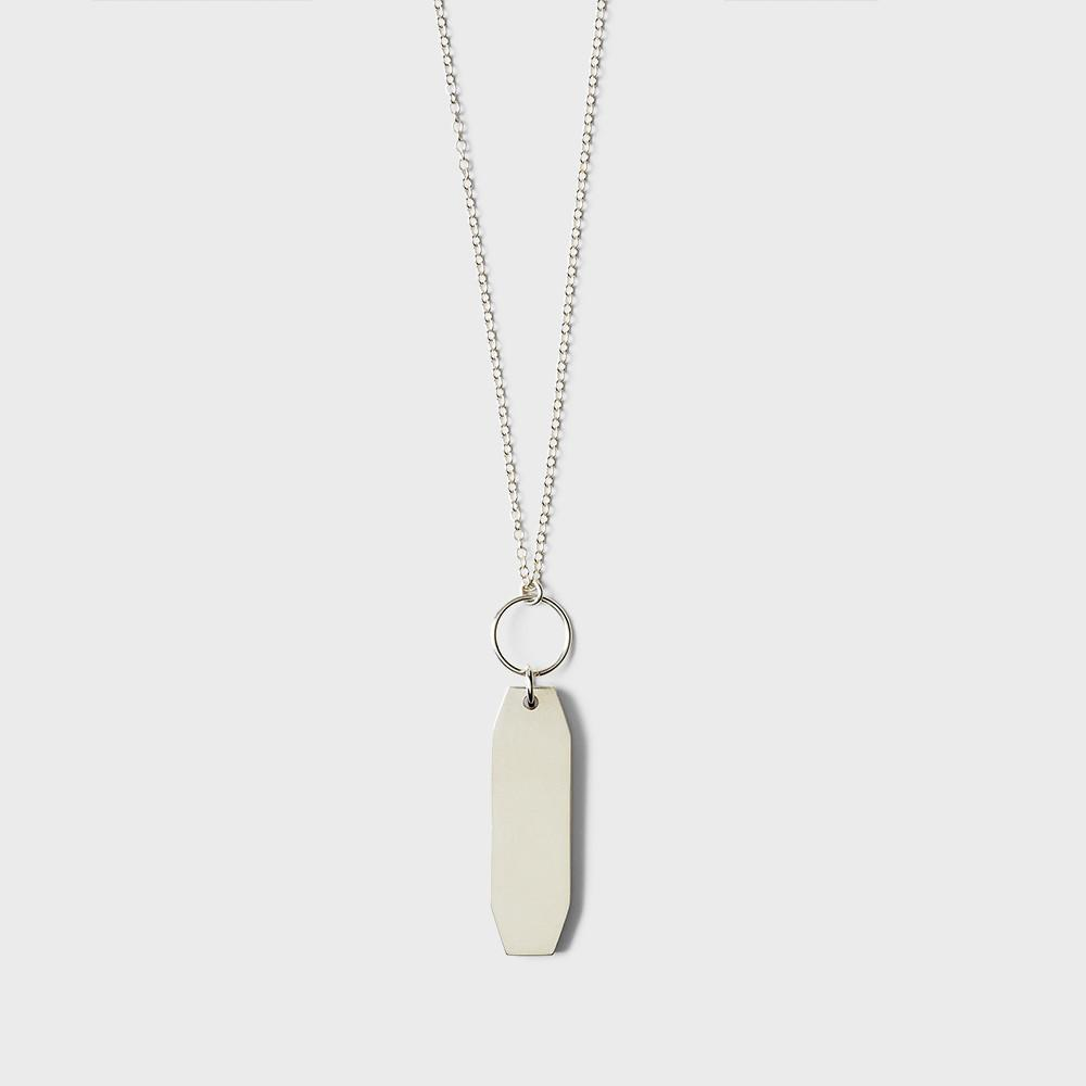 Sine Plateau Pendant Necklace Sterling Silver
