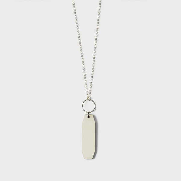 product: Sine Plateau Pendant Necklace Sterling Silver