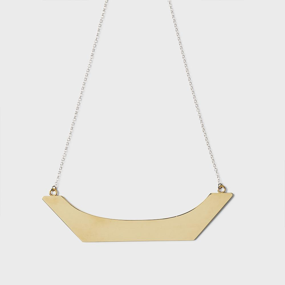 Sine Plateau Statement Necklace Brass