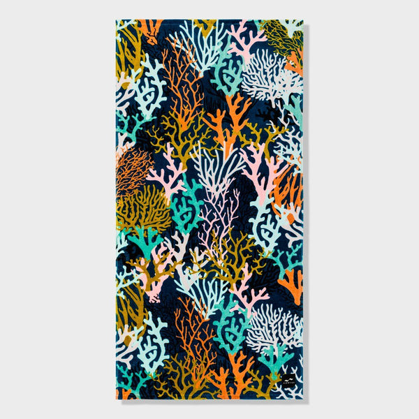 product: Slowtide Rainbow Reef Towel Navy
