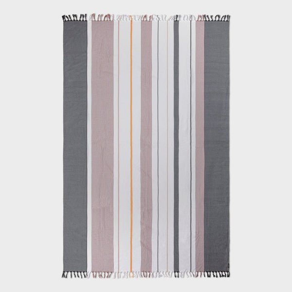product: Tavik Beach Throw White/Berry Stripe
