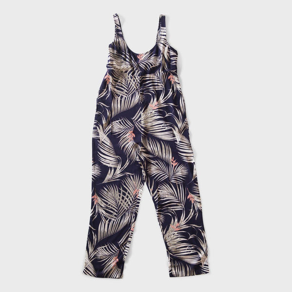 product: Tavik W's Off Duty Romper La Tona Palm Evening Blue