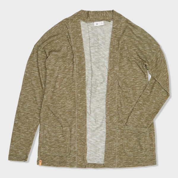 product: Tentree Women's Alouette Cardigan Olive Night Green