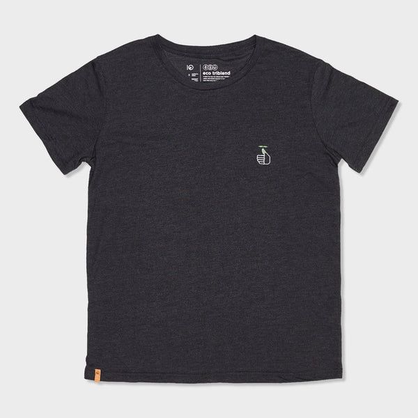 product: Tentree Women's Thumbs Up T-Shirt Meteorite Black Heather