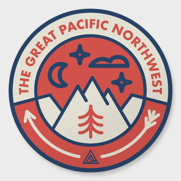 product: The Great PNW Campout Sticker White