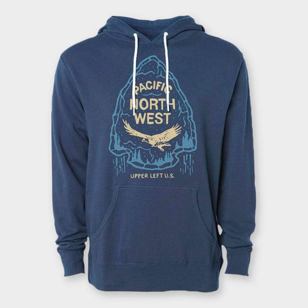 product: The Great PNW Dweller Hooded Pullover Slate Blue