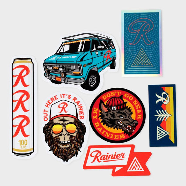 product: The Great PNW Rainier Sticker Pack Multi