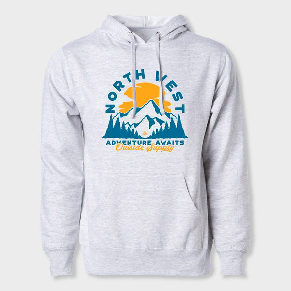 product: The Great PNW Roosevelt Hoodie Grey Heather