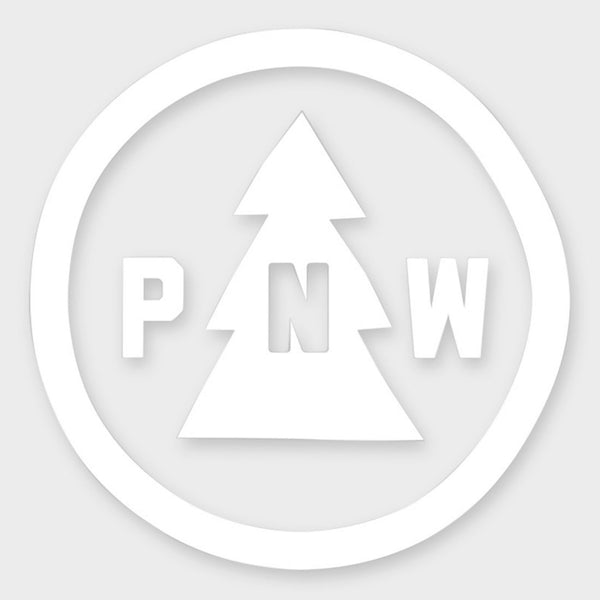 product: The Great PNW Trail Vinyl Sticker White