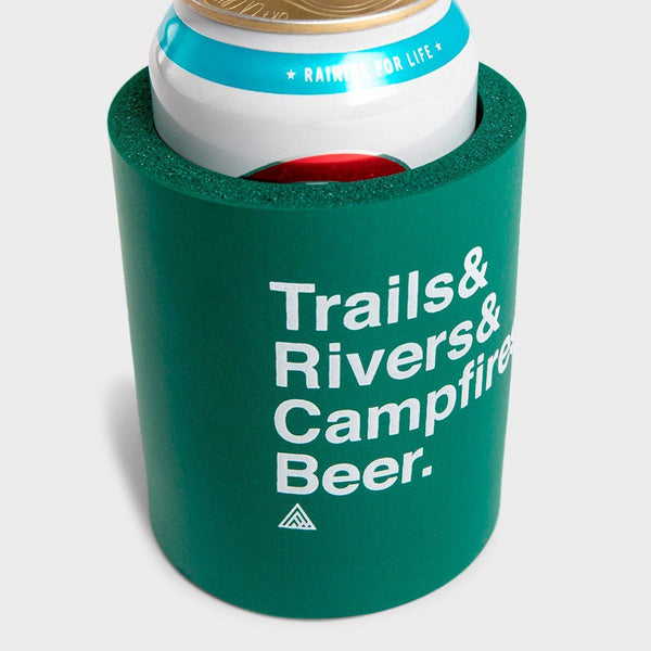 product: The Great PNW Trailhead Foam Koozie Forest Green